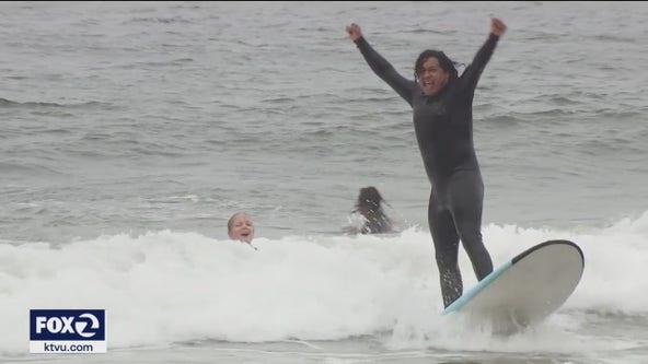 Student confidence soars through free San Francisco surf program