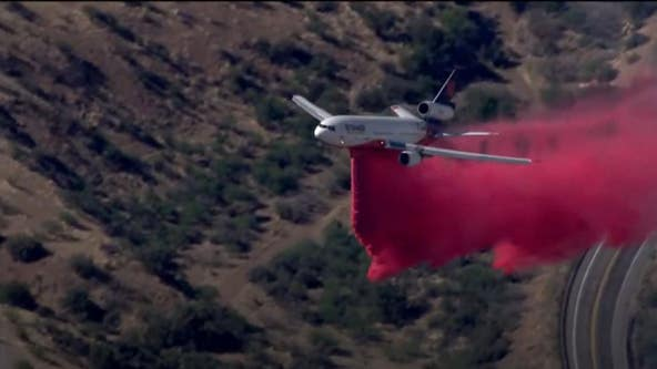 Crews battling Copper Canyon Fire in Gila County; portion of US 60 closed