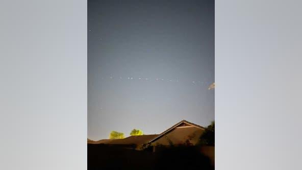 Arizona residents report seeing dozens of strange lights in the sky