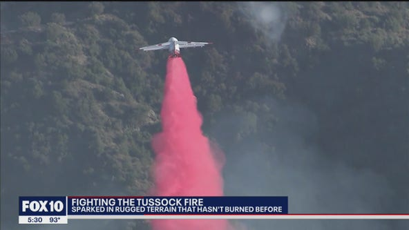 Firefighters struggle to access Tussock fire