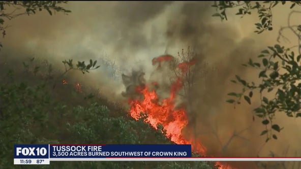 Tussock Fire burns 3,500 acres near Crown King