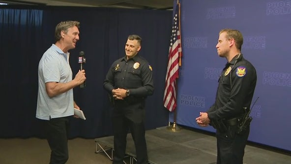 Phoenix Police officers save man who fell into canal