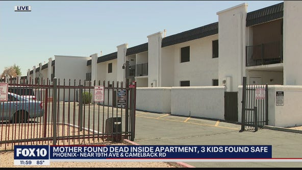 Mother found dead inside Phoenix apartment; 3 kids found safe