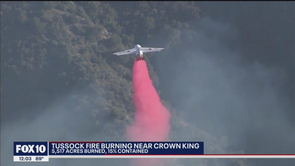 Tussock Fire now 15% contained near Crown King