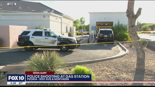 Shooting breaks out at Peoria gas station