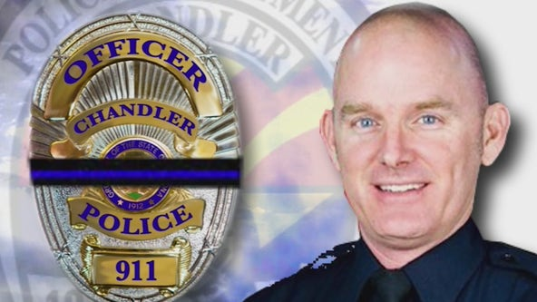 Memorial service underway for fallen Chandler Police Officer Christopher Farrar