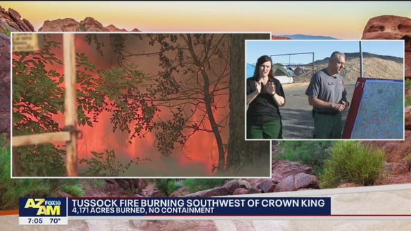 Tussock Fire: Over 4,100 acres burned southwest of Crown King, 0% contained