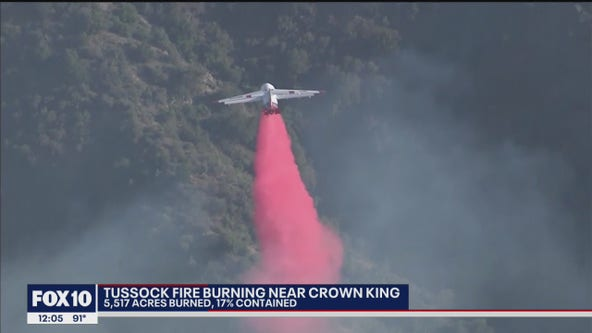 Tussock Fire near Crown King now 17% contained