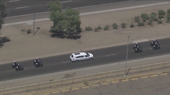Procession held for Chandler police officer killed during pursuit