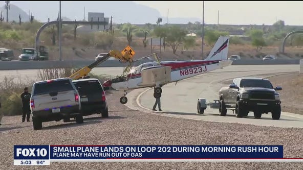 Small plane makes emergency landing on Loop 202