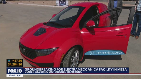 Groundbreaking held for ElectraMeccanica facility in Mesa