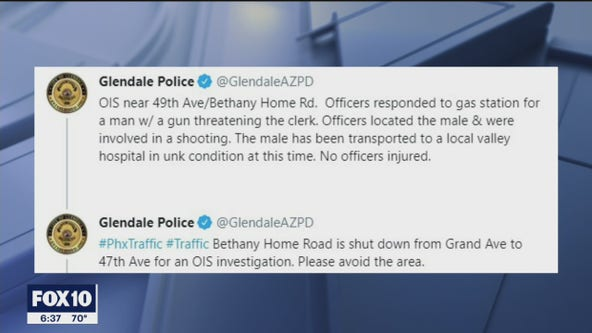 Glendale Police shoot suspect near 49th Avenue and Bethany Home Road