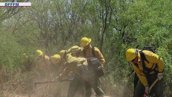 Arizona inmates on the front lines fighting wildfires