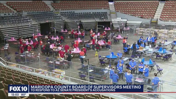 Maricopa County Board of Supervisors holds meeting to discuss audit accusations