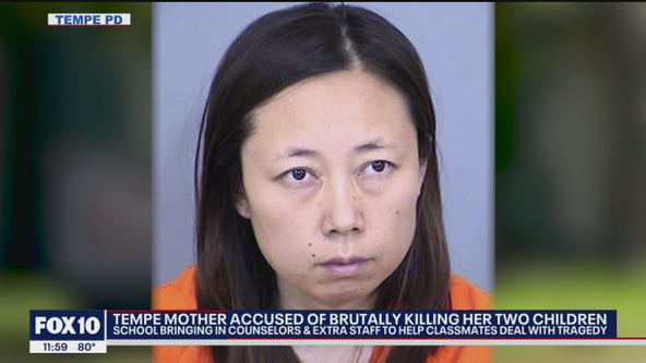 Arizona mom accused of brutally killing her 2 children with meat cleaver