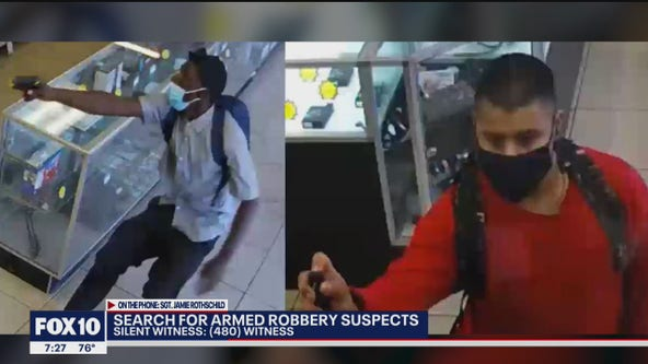 Silent Witness seeking suspects in Phoenix pawn shop robbery