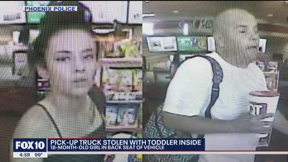 Search continues after truck was stolen with child inside