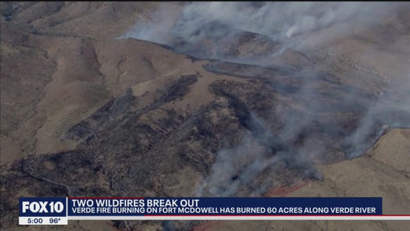 Copper Canyon, Verde fires continue to burn in Arizona