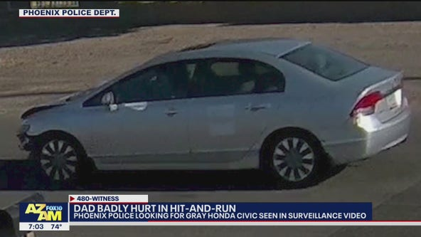 Father badly hurt in Phoenix hit-and-run