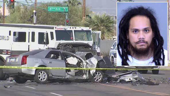 11-year-old girl dead in head-on crash involving armored truck in Phoenix, suspect arrested