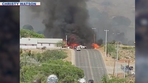 Spur Fire: Evacuation order lifted, at least 13 homes destroyed in Bagdad