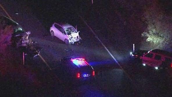 6 injured in wrong-way crash on US 60