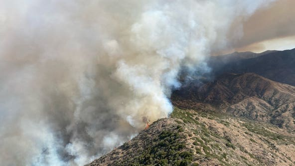 Tussock Fire burning near Prescott National Forest grows to 5,500 acres