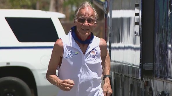78-year-old man running across the U.S. makes a stop in Phoenix
