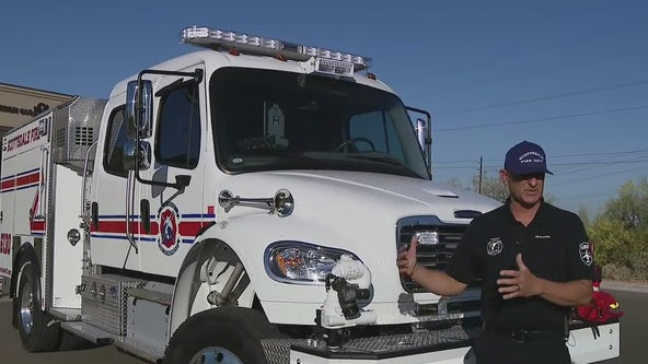 Scottsdale Fire gets new truck to help with battling brush fires