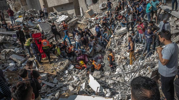 Israeli airstrikes kill 33, flatten buildings in Gaza City