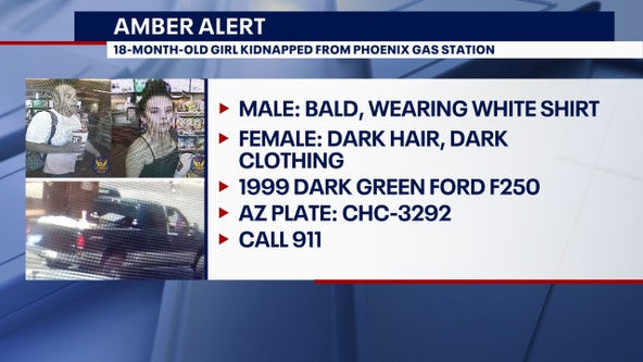 Police: AMBER Alert issued after car was stolen in Phoenix with young child inside