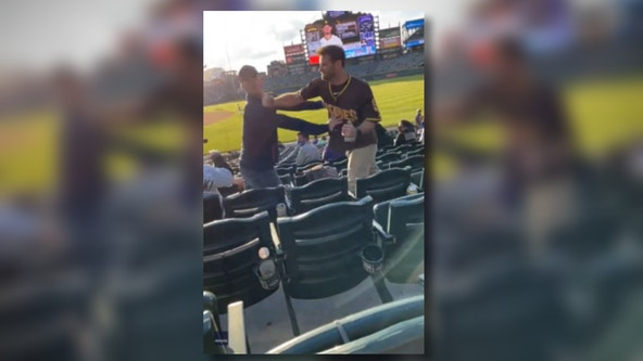Violent punch captured on camera at Colorado Rockies game