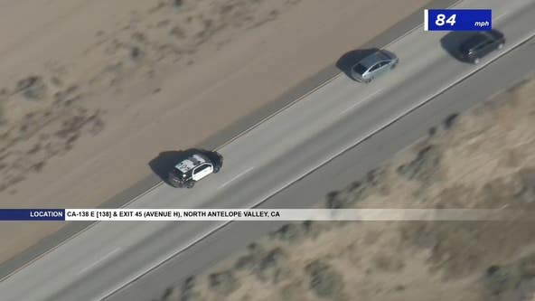 Authorities in pursuit of vehicle near Lancaster