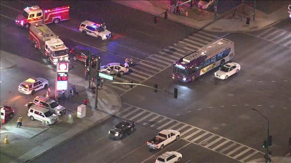 Three hospitalized in multi-vehicle crash involving Phoenix city bus
