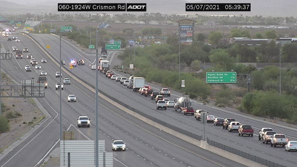 DPS: Man lying in road struck, killed by vehicle on US 60 in Apache Junction