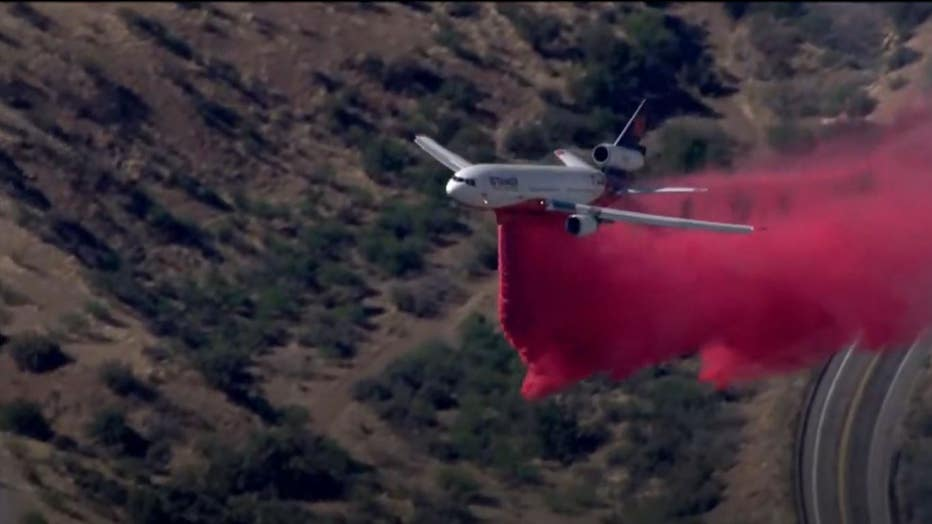 10 Tanker at Copper Canyon fire