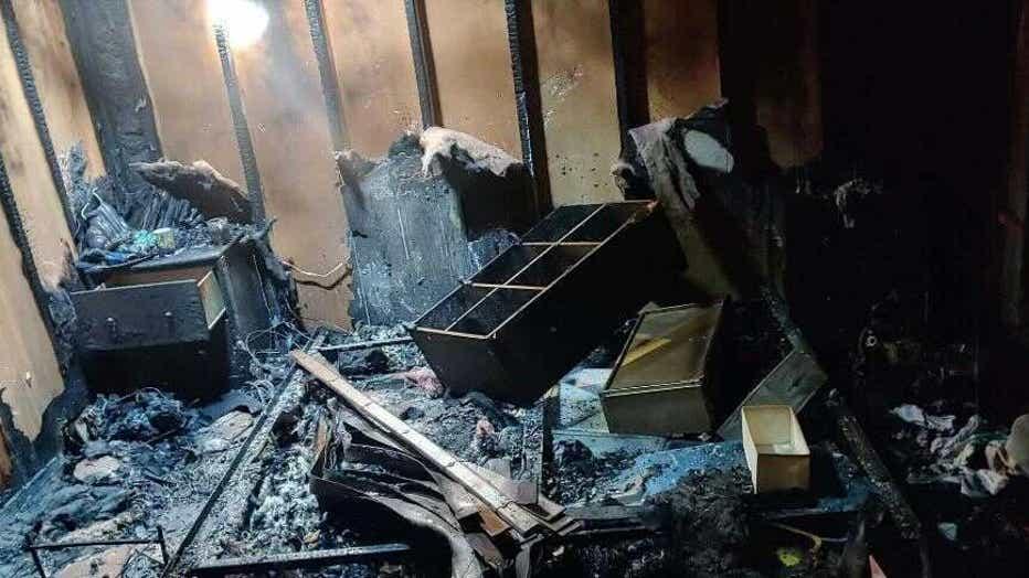 The rubble of Kelli Melton's home.
