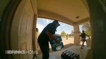 Surveillance camera captures porch pirates stealing groceries