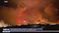 Telegraph Fire prompts more evacuations, showing 'erratic' behavior