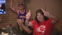 Fans celebrate Phoenix Suns sweep of Denver Nuggets