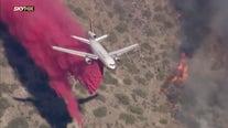 Crews battle fast-growing Cornville Fire