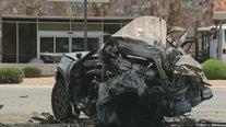1 dead, 4 injured in fiery west Phoenix crash
