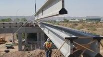 Repair work continues on 7th Street bridge overlooking Salt River