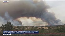 Mescal Fire burning near Globe now 88% contained