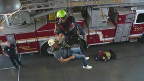 Training with Peoria Fire's technical rescue team