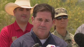 Gov. Ducey visits area where crews are battling Telegraph, Mescal Fires