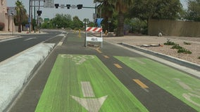 Downtown Phoenix's new two-way bike lane causing confusion, collisions