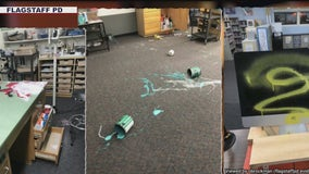 Flagstaff elementary school vandalized with graffiti, smashed windows