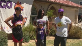 North Phoenix family show off their team spirit as Suns take on Denver Nuggets in Game 3 of playoff series