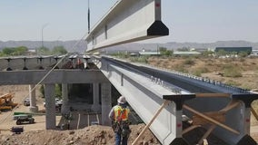 Reconstruction continues on 7th Street bridge in Phoenix after being damaged in fire